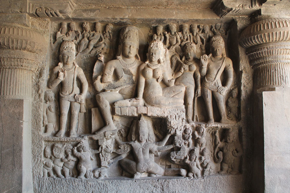Sculpture at Ellora Photo credit:  Arian Zwegers