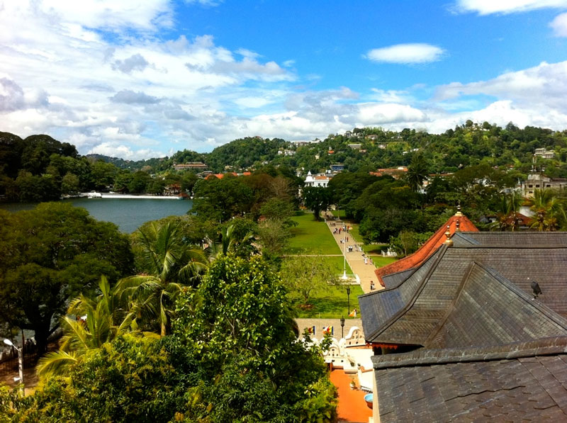 View from the Temple of the Tooth, Kandy Photo credit:  Thomas