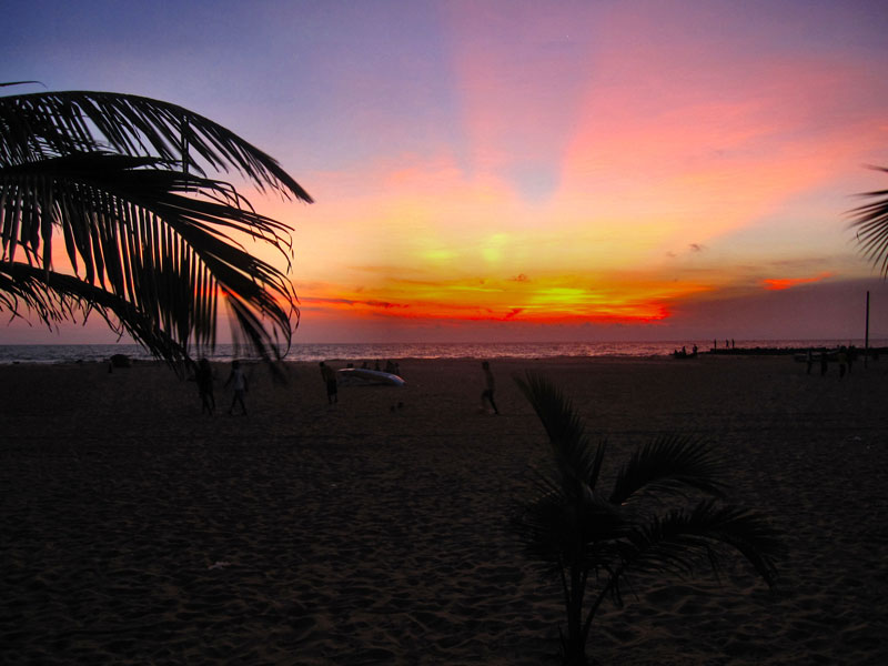 Sunset at Negombo Beach Photo credit:  Ronald Saunders
