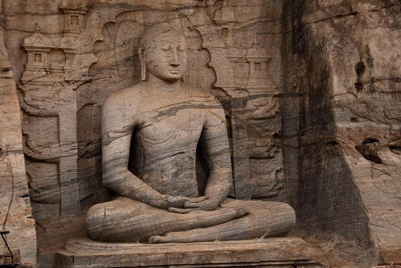 Samadhi Buddha statue, Polonnaruwa Photo credit:  Hafiz Issadeen