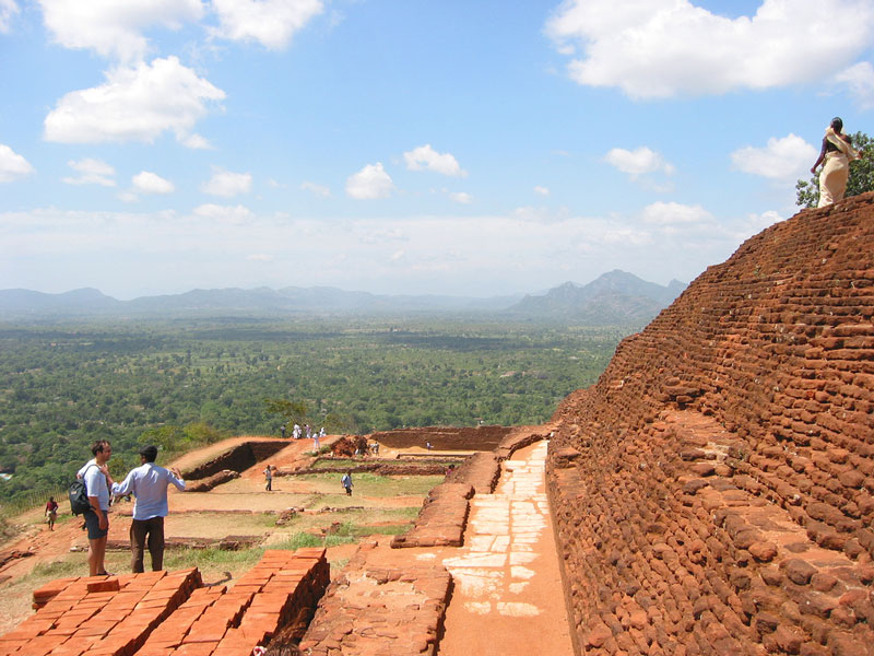 At the top of the mountain fortress of Sigiriya Photo credit:  Paul Mannix