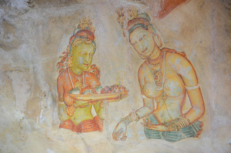 Frescoes at Sigiriya Photo credit:  Fabien Fivaz