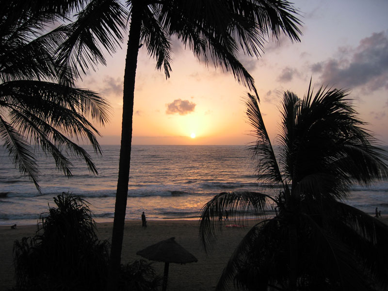 Sunset at Negombo Beach Photo credit:  Paul Mannix