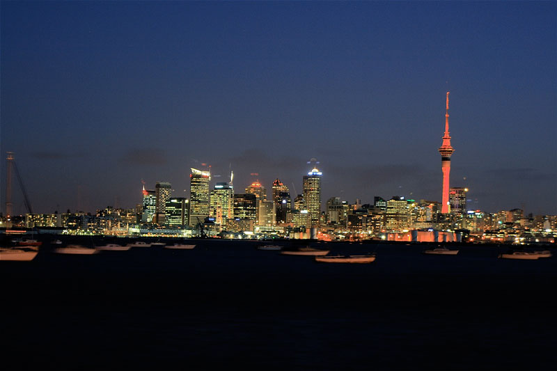 Auckland city at dusk Photo credit:  23am.com