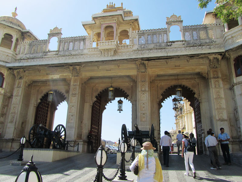 Entering the City Palace, Udaipur Photo credit: Rustom Katrak