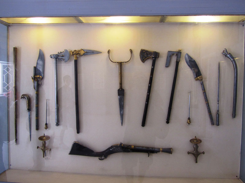 Ancient weaponry on display at the Mehrangarh Fort museum, Jodhpur Photo credit: Rustom Katrak