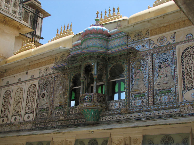 Glass, stone and gem work at the City Palace, Udaipur Photo credit:  McKay Savage