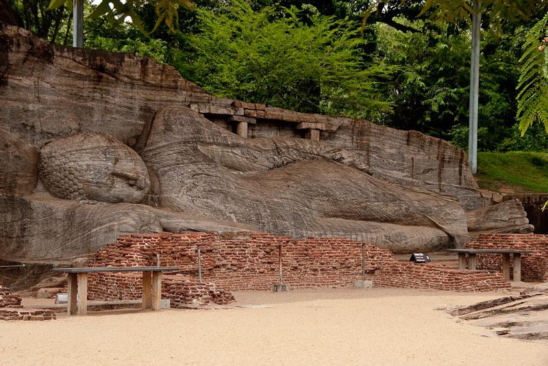 Reclining Buddha, Polonnaruwa, Sri Lanka Photo credit:  Hafiz Issadeen