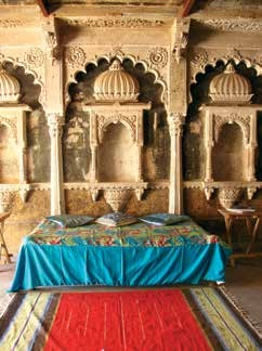 An inviting diwan at Chanoud Garh