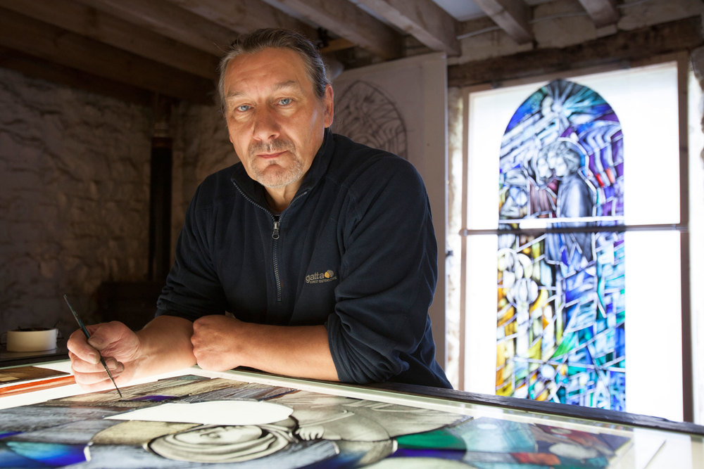 Alan Davies, Stained Glass Artist.