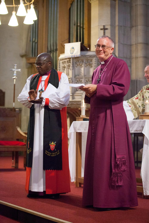 Archbishop of York John Sentamu & Rev Paul Ferguson.