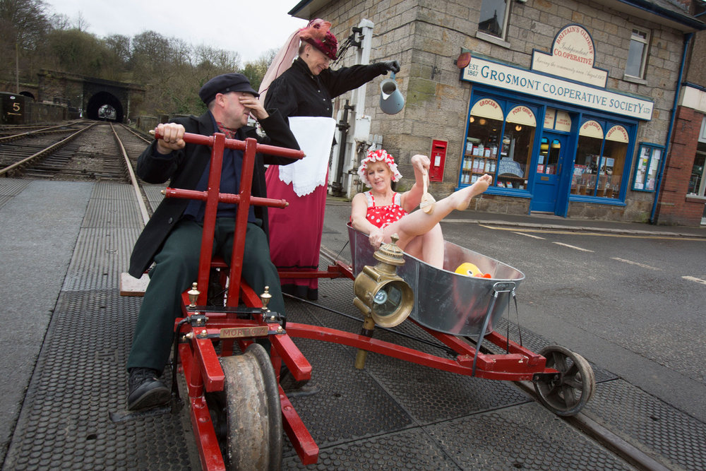 Publicity for Grosmont Co-Op celebrating 150 years.