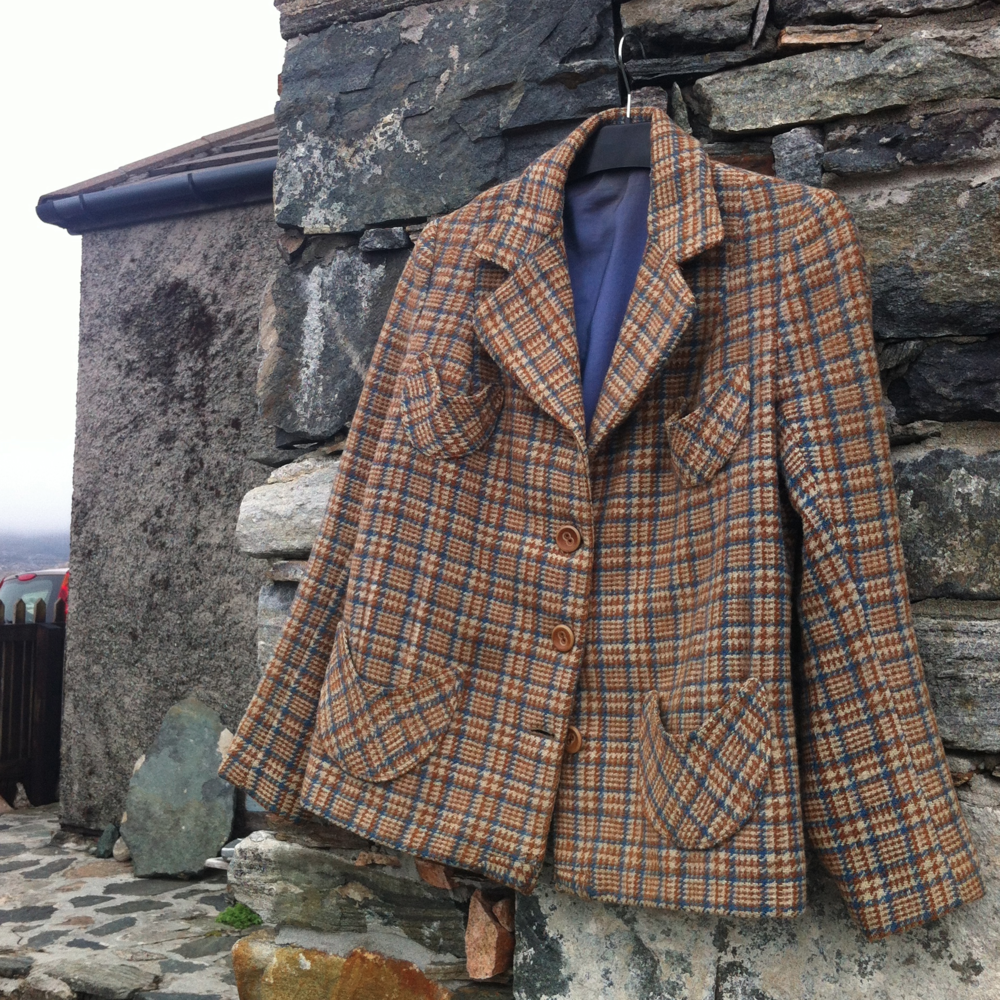 Tailored coat, naturally dyed by Margarita's Grandmother.