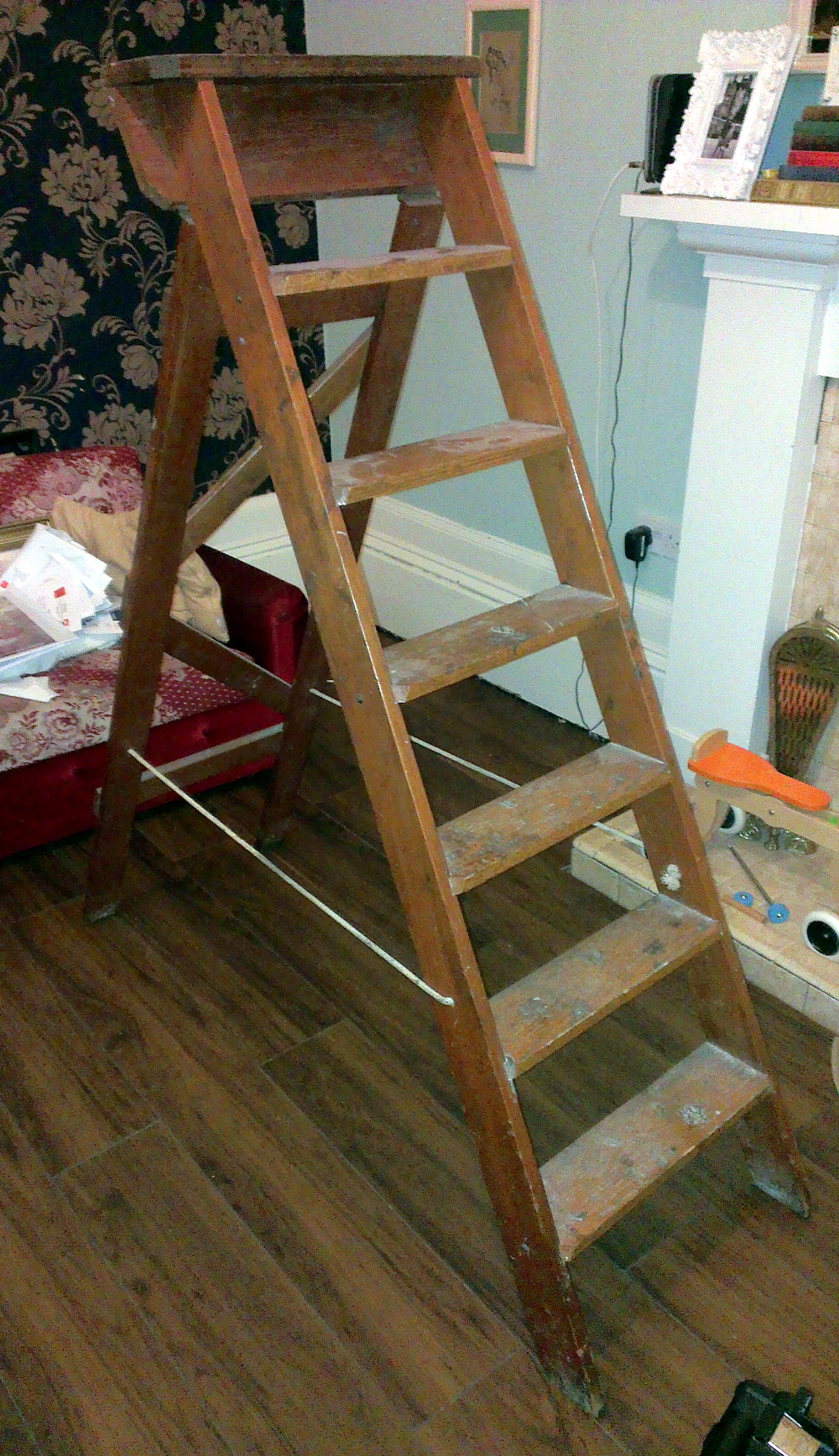 The original ladders I dragged off the street