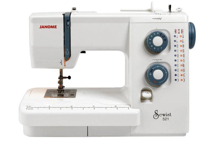Janome Sewist 521, a mechanical sewing machine model.