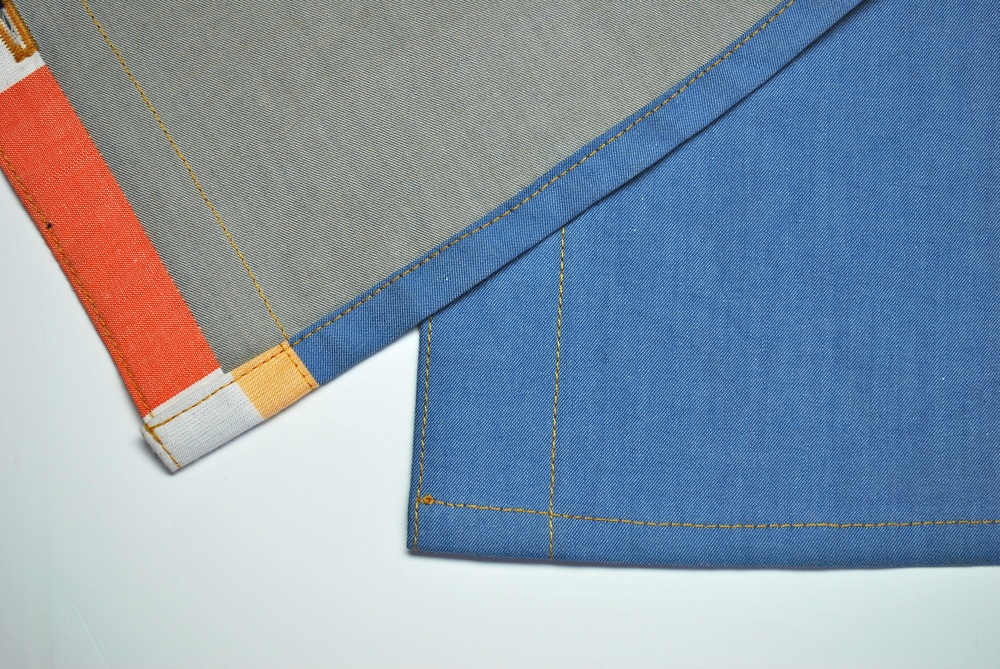 The finished hem on Version 1