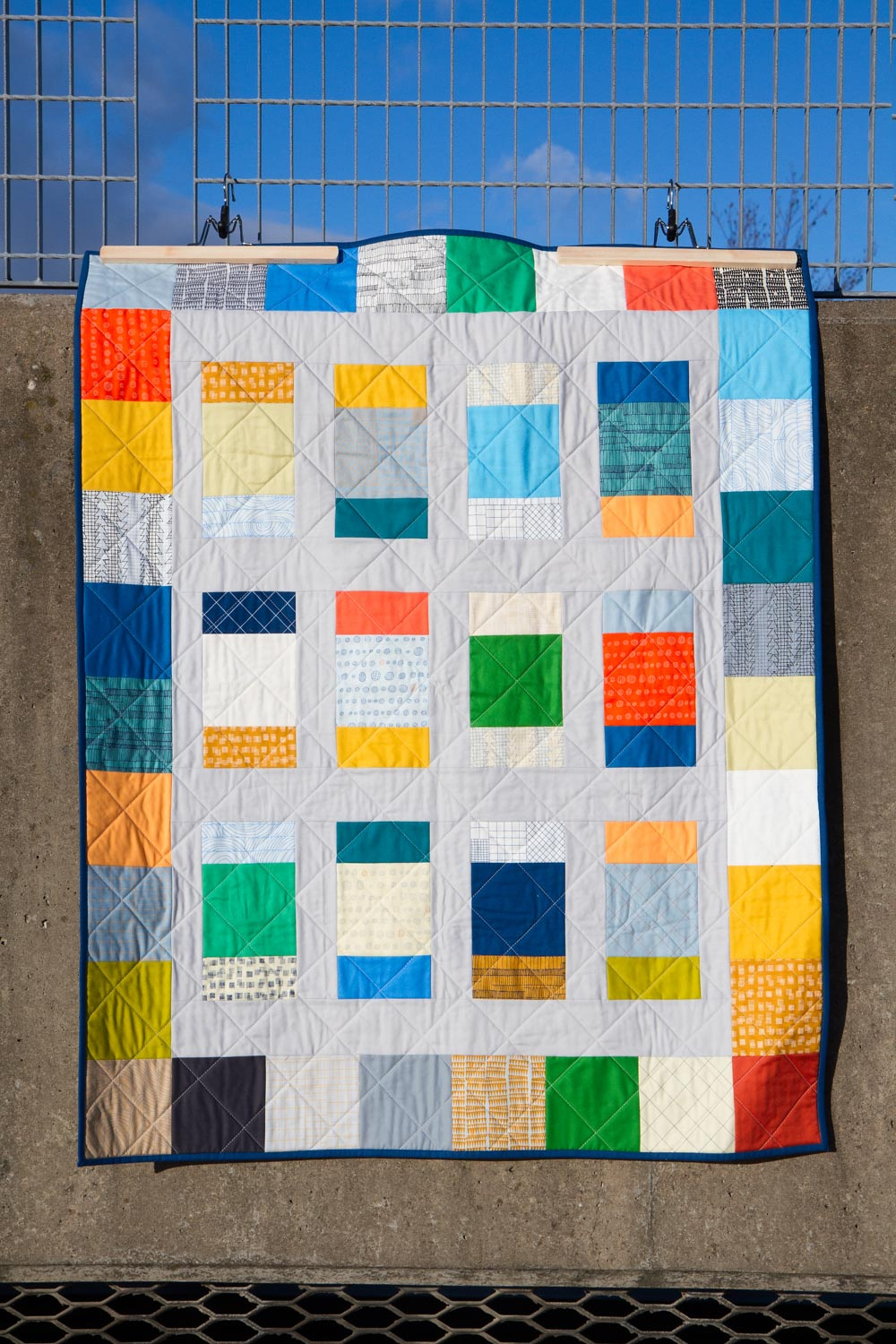 A Charm Box Quilt by Katy Cameron.