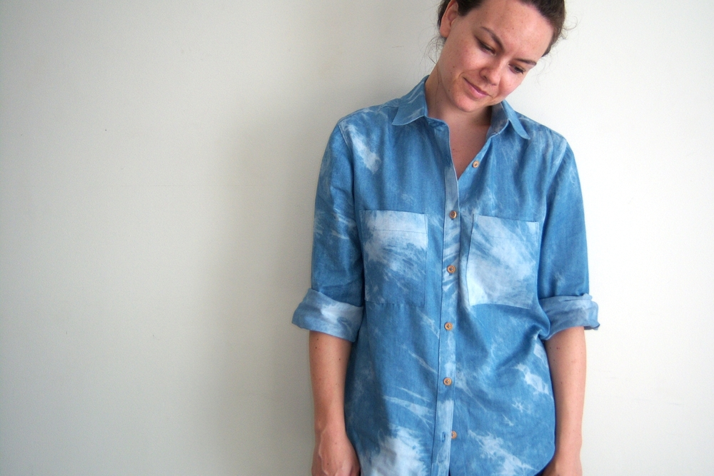 Tie Dyed Chambray Archer