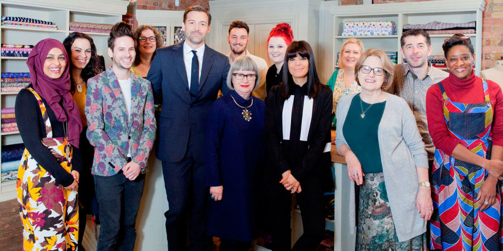 The BBC's Great British Sewing Bee: This year's contestants and the judges.