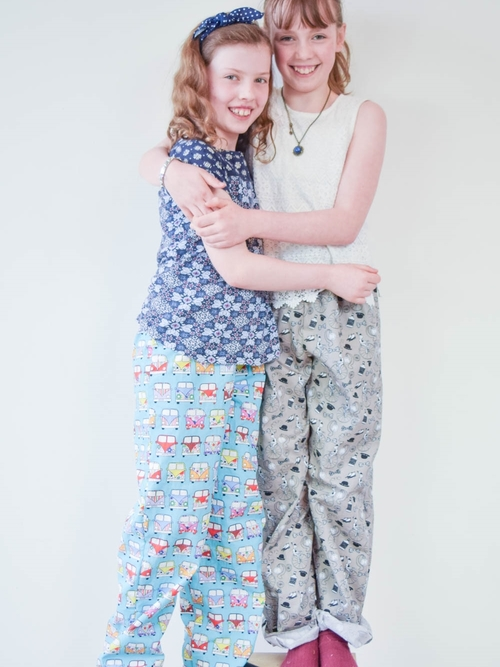 PYJAMA BOTTOMS (for Kids) by The Stitchery A simple pair of unisex pyjama bottoms with an elasticated waistband. Developed in-house at The Stitchery. Size: 6-14 yrs