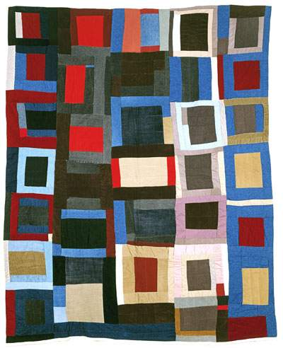 A quilt from the  Quilters of Gees Bend .