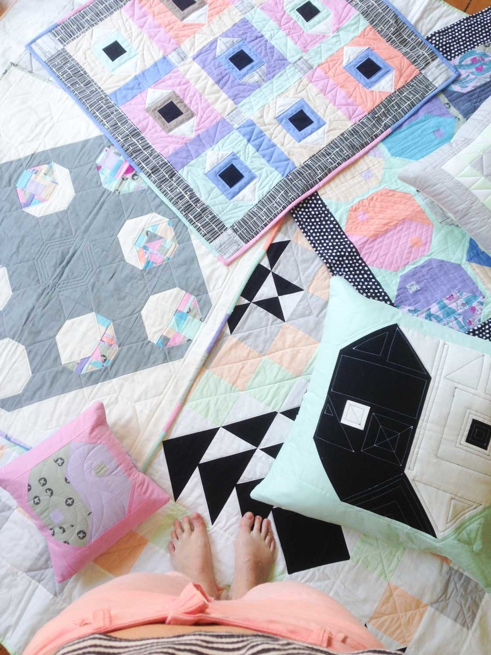 Contemporary quilts by Rachael Coghill of FOAK