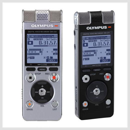 Olympus DM-650 & DM-670digital recorders