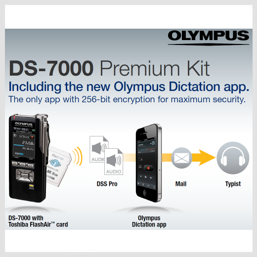 Olympus DS-7000 digital voice recorder - Premium Kit