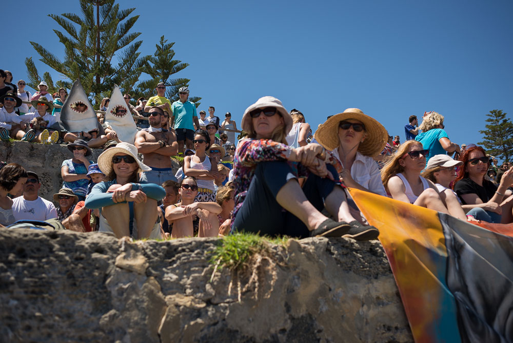 Protest agains shark cull policy in WA, Cottesloe, 2014, ©Piotrek Ziolkowski