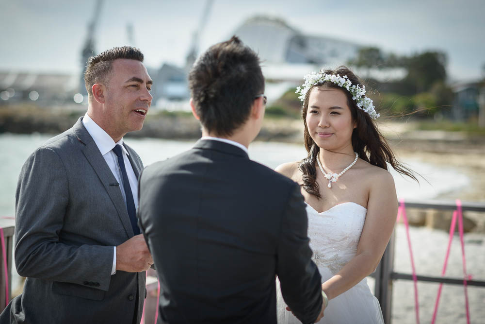 "Super cool Fremantle wedding at the Kidogo Art House/ Ethan and Rachel. Kidogo is very ""Freo"" wedding venue with awesome views and I happen to live just 5 minutes from it :) All my secret spots for wedding photos are within the walking distance."