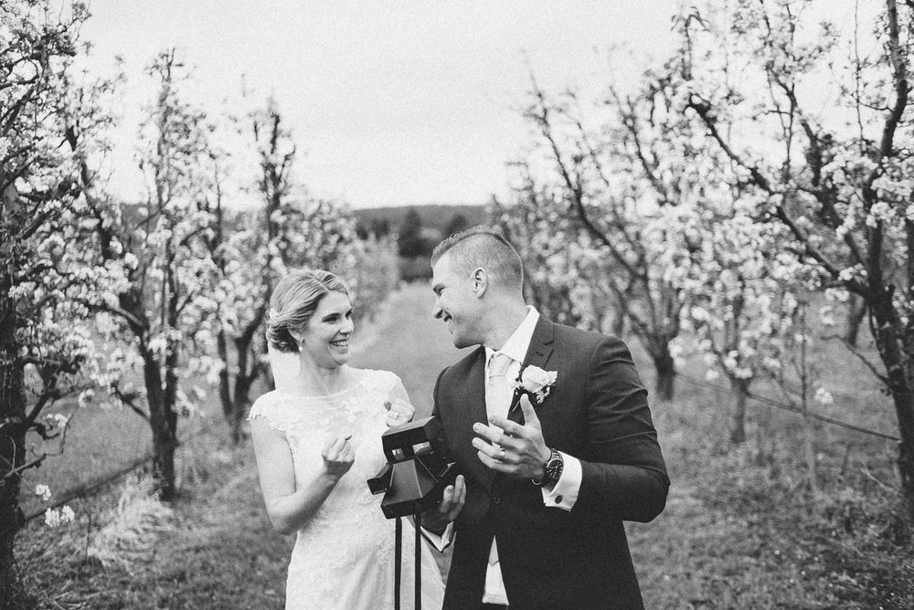 Wedding Photography with a Polaroid camera.