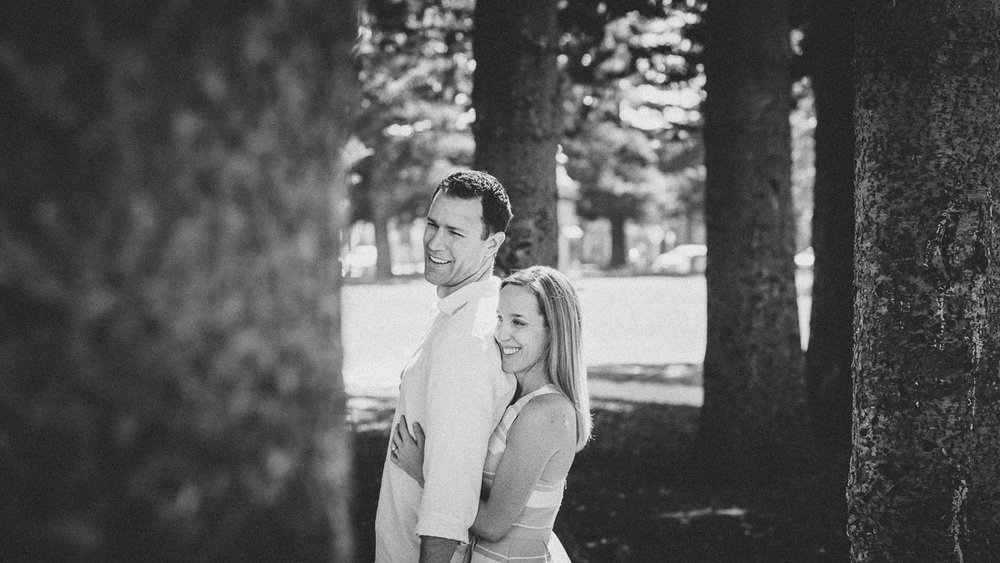 Pre Wedding session of James and Jenna in Fremantle