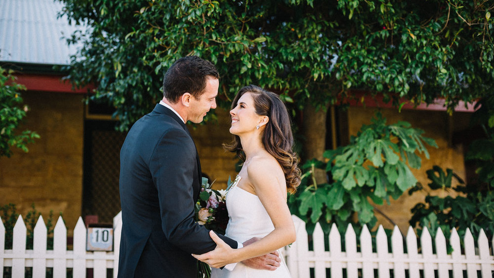 Intimate and Relaxed wedding photography fremantle