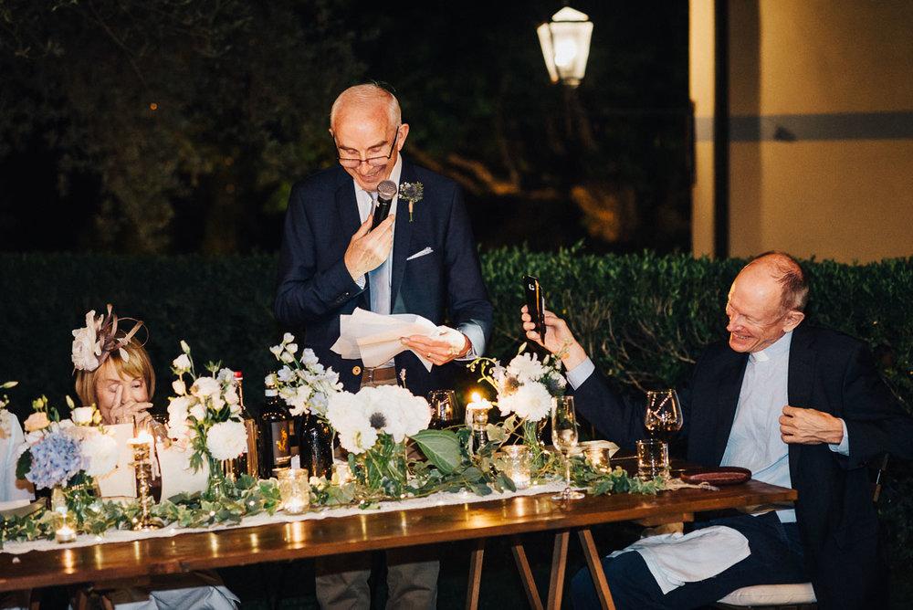 Wedding reception in Tuscanny venue Terre Di Nano