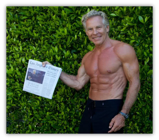 Fitness author, triathlete and Paleo promoter Mark Sisson is 58 years old.     I mage: http://www.marksdailyapple.com/