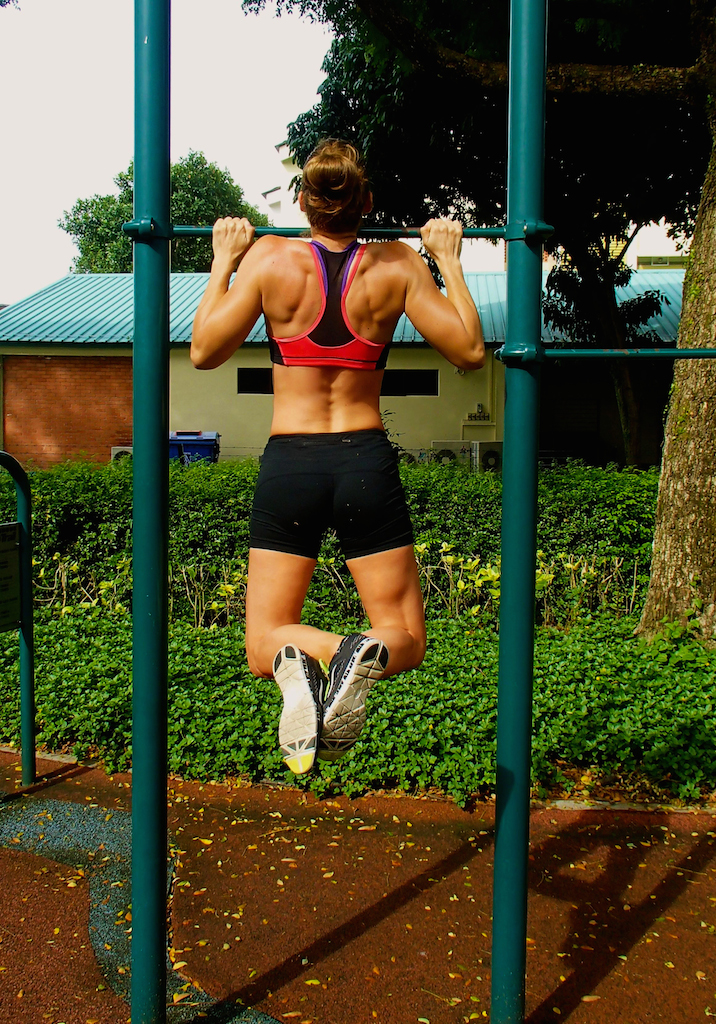 Proud Pull-Up Queen... but it wasn't always this way. In fact, last year I could do ZERO unassisted pull-ups!