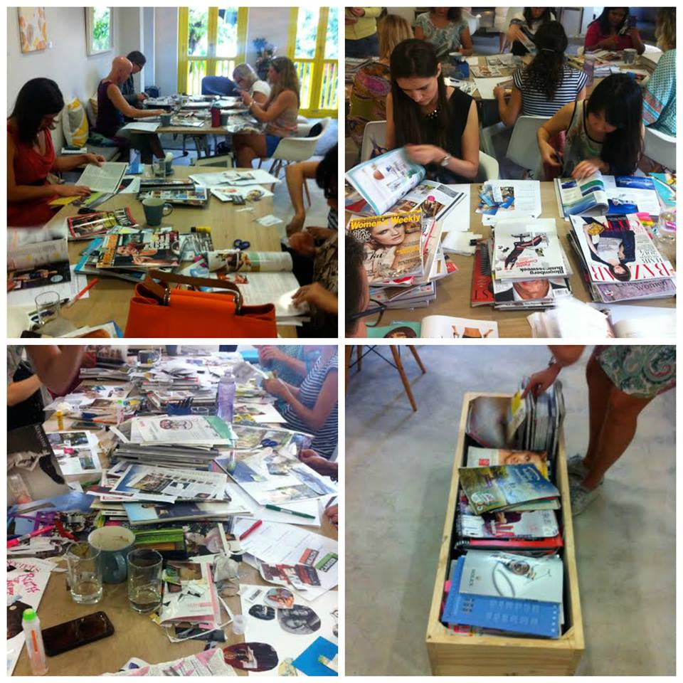 "A few scenes from the December ""Creating Your Vision for 2015"" workshop at Woolf Works."