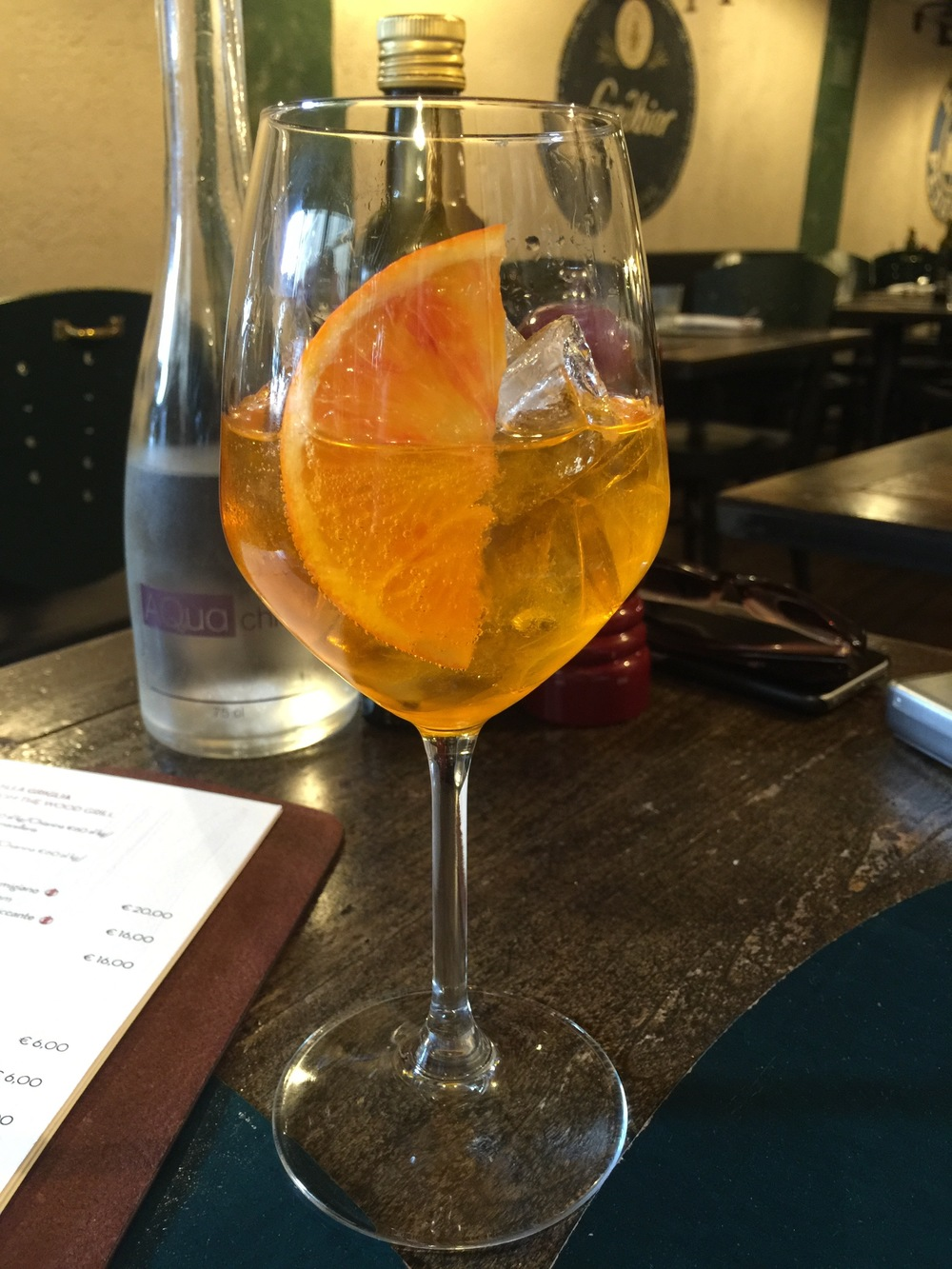 A Crodino Mocktail. Crodino is a non-alcoholic bitter apertif... and delicious!