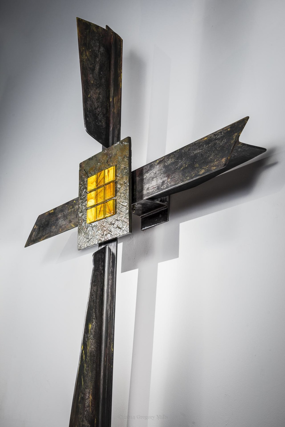 Cross was Made from a Discared I-beam