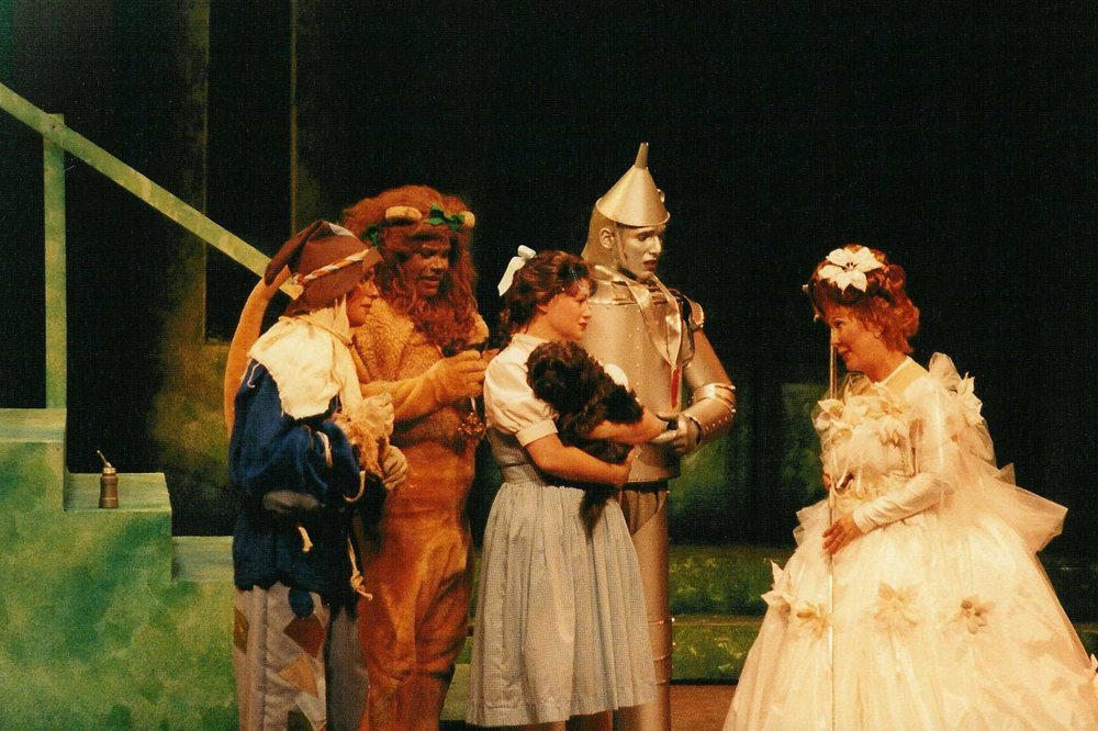 My dog Munster staring as Toto in the Wizard of Oz at Theatre Winter Haven with Lindsey Alley