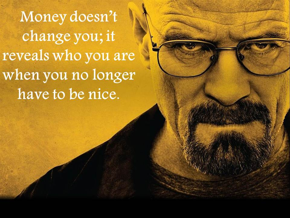 Quote from author Tim Ferriss The 4 Hour Work Week - Picture of Bryan Cranston star of hit TV series Breaking Bad
