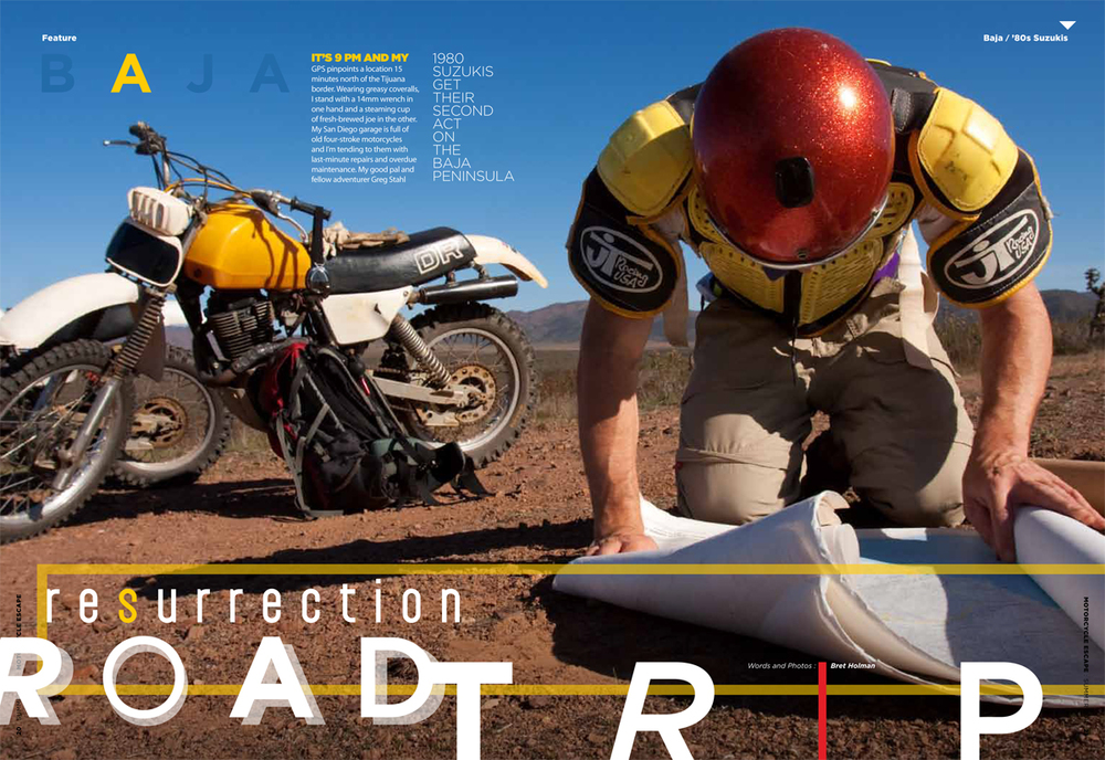 An Assignment I took on for Motorcycle Escape magazine on classic motorcycles in Baja, California
