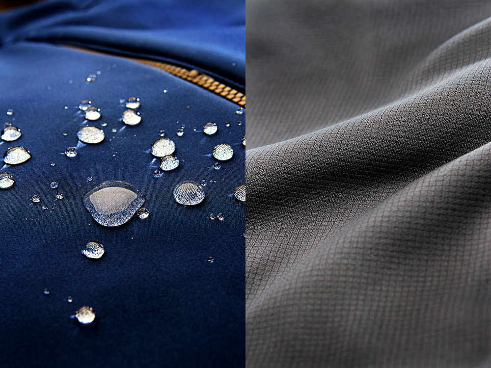 Some of my recent product shots showcasing a waterproof fabric and liner.