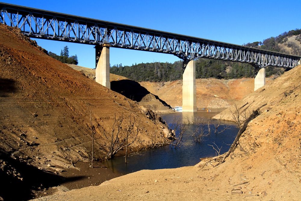 Lake Oroville in Northern California on January 17, 2014