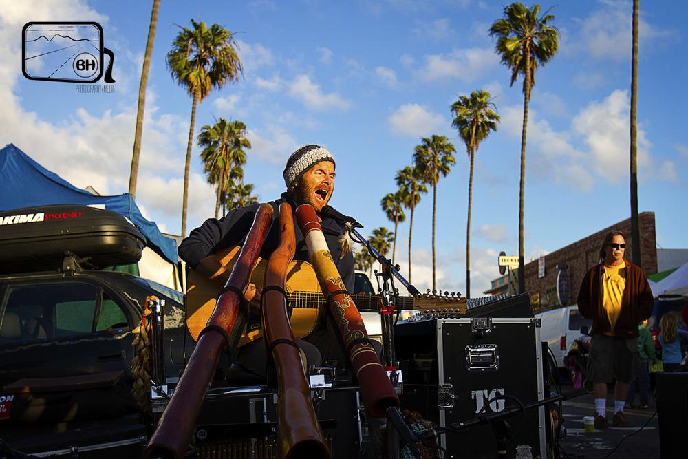 Trevor Green playing the Ocean Beach Farmer's Market - California