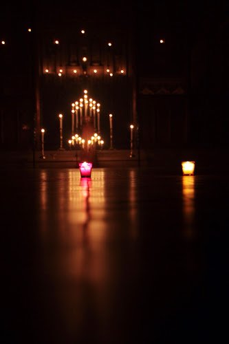 The Church set up for Compline