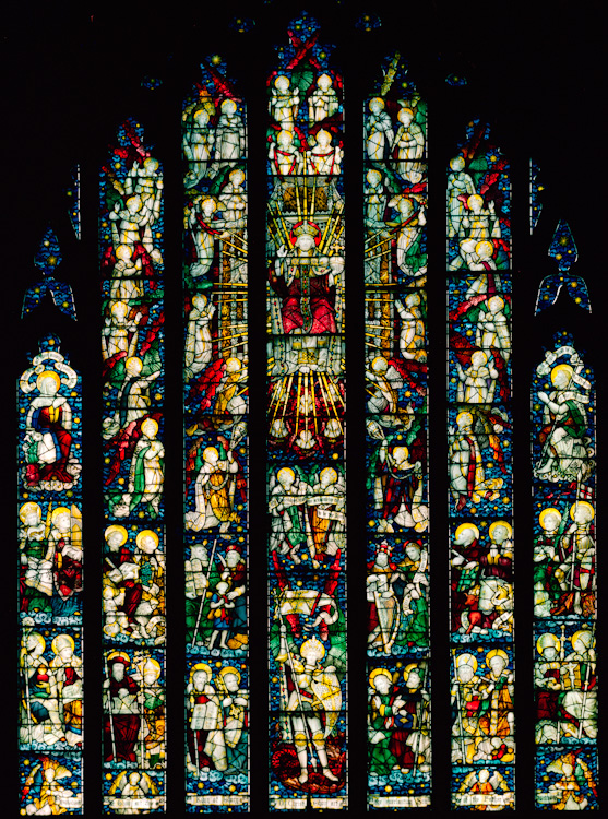 The Te Deum Window at Christ Church (St. Michael is at the bottom)