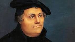 Martin Luther looking happier than usually depicted.
