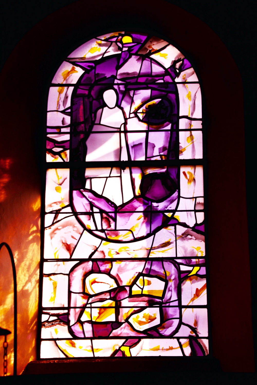 One of the windows at Holy Cross Monastery.