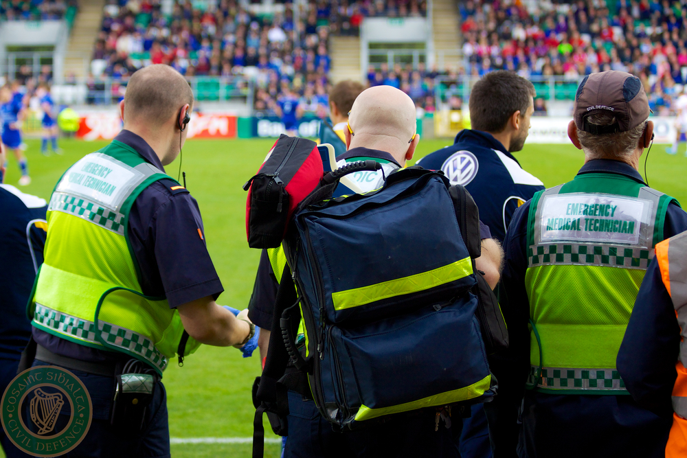 Civil Defence Medics at Leinster Game